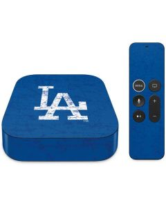 Los Angeles Dodgers - Solid Distressed Apple TV Skin