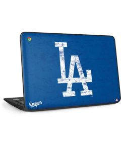 Los Angeles Dodgers - Solid Distressed HP Chromebook Skin