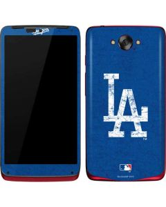 Los Angeles Dodgers - Solid Distressed Motorola Droid Skin