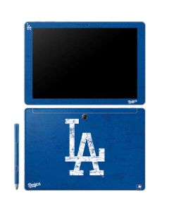 Los Angeles Dodgers - Solid Distressed Galaxy Book 10.6in Skin