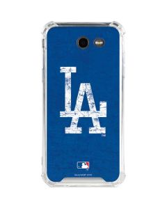 Los Angeles Dodgers - Solid Distressed Galaxy J3 (2017) Clear Case