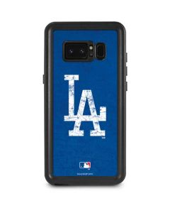 Los Angeles Dodgers - Solid Distressed Galaxy Note 8 Waterproof Case