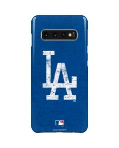 Los Angeles Dodgers - Solid Distressed Galaxy S10 Lite Case