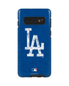 Los Angeles Dodgers - Solid Distressed Galaxy S10 Pro Case