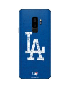 Los Angeles Dodgers - Solid Distressed Galaxy S9 Plus Skin