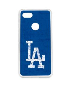 Los Angeles Dodgers - Solid Distressed Google Pixel 3 XL Clear Case