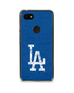 Los Angeles Dodgers - Solid Distressed Google Pixel 3a Clear Case