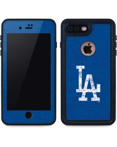 Los Angeles Dodgers - Solid Distressed iPhone 7 Plus Waterproof Case