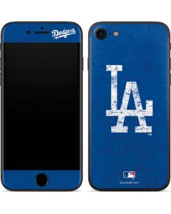 Los Angeles Dodgers - Solid Distressed iPhone 7 Skin