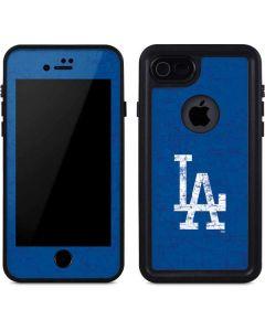Los Angeles Dodgers - Solid Distressed iPhone 8 Waterproof Case