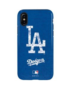 Los Angeles Dodgers - Solid Distressed iPhone X Pro Case
