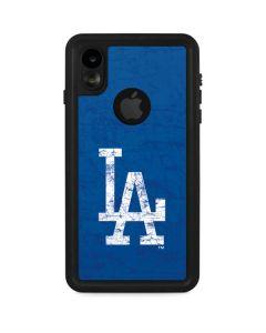 Los Angeles Dodgers - Solid Distressed iPhone XR Waterproof Case