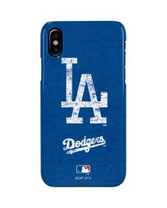Los Angeles Dodgers - Solid Distressed iPhone XS Lite Case