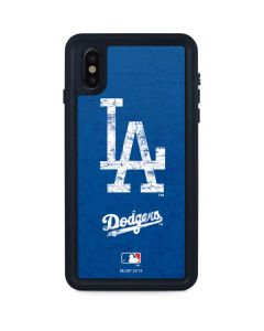 Los Angeles Dodgers - Solid Distressed iPhone XS Max Waterproof Case
