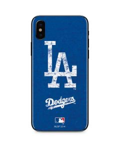 Los Angeles Dodgers - Solid Distressed iPhone XS Skin