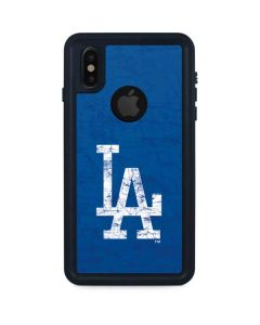Los Angeles Dodgers - Solid Distressed iPhone XS Waterproof Case