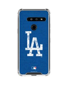Los Angeles Dodgers - Solid Distressed LG G8 ThinQ Clear Case