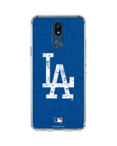 Los Angeles Dodgers - Solid Distressed LG K30 Clear Case