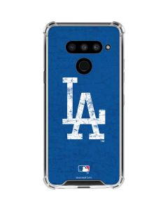 Los Angeles Dodgers - Solid Distressed LG V50 ThinQ Clear Case