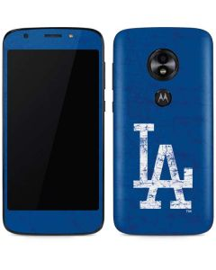Los Angeles Dodgers - Solid Distressed Moto E5 Play Skin
