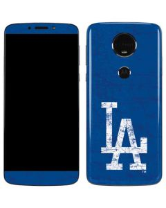 Los Angeles Dodgers - Solid Distressed Moto E5 Plus Skin