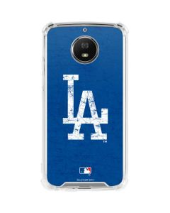 Los Angeles Dodgers - Solid Distressed Moto G5S Plus Clear Case