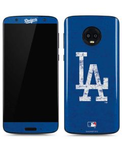 Los Angeles Dodgers - Solid Distressed Moto G6 Skin