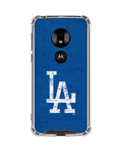 Los Angeles Dodgers - Solid Distressed Moto G7 Play Clear Case