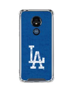 Los Angeles Dodgers - Solid Distressed Moto G7 Power Clear Case