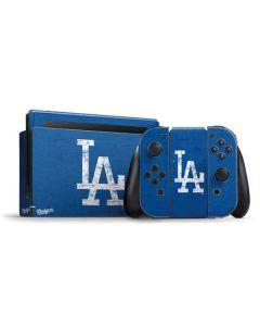 Los Angeles Dodgers - Solid Distressed Nintendo Switch Bundle Skin