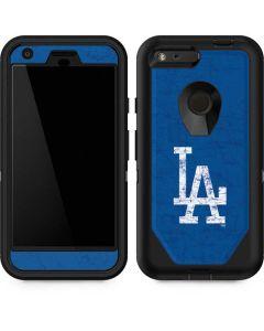 Los Angeles Dodgers - Solid Distressed Otterbox Defender Pixel Skin