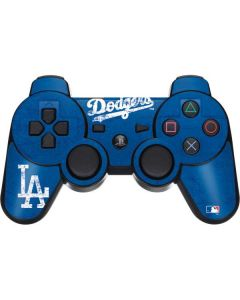 Los Angeles Dodgers - Solid Distressed PS3 Dual Shock wireless controller Skin