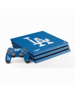 Los Angeles Dodgers - Solid Distressed PS4 Pro Bundle Skin