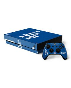 Los Angeles Dodgers - Solid Distressed Xbox One X Bundle Skin