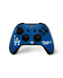 Los Angeles Dodgers - Solid Distressed Xbox One X Controller Skin