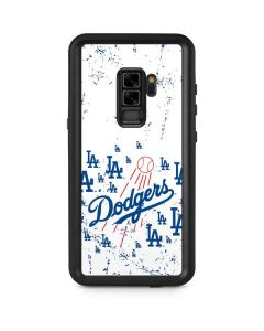 Los Angeles Dodgers - White Primary Logo Blast Galaxy S9 Plus Waterproof Case