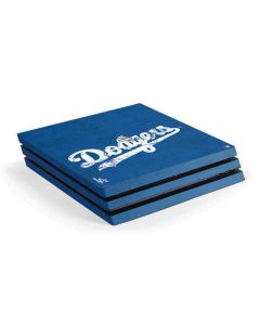 Los Angeles Dodgers- Alternate Solid Distressed PS4 Pro Console Skin