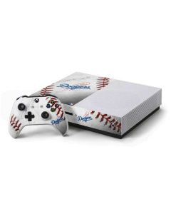 Los Angeles Dodgers Game Ball Xbox One S Console and Controller Bundle Skin