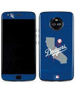 Los Angeles Dodgers Home Turf Moto X4 Skin