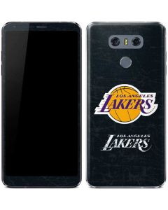 Los Angeles Lakers Black Primary Logo LG G6 Skin