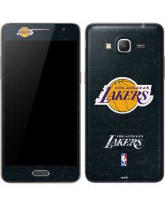 Los Angeles Lakers Black Primary Logo Galaxy Grand Prime Skin