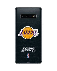 Los Angeles Lakers Black Primary Logo Galaxy S10 Plus Skin