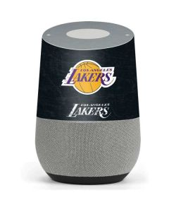 Los Angeles Lakers Black Primary Logo Google Home Skin