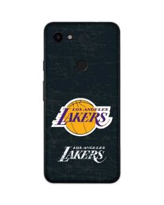 Los Angeles Lakers Black Primary Logo Google Pixel 3a Skin