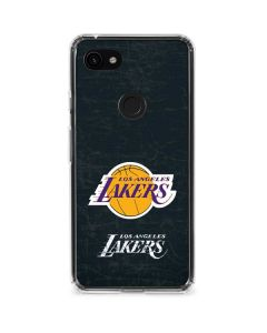 Los Angeles Lakers Black Primary Logo Google Pixel 3a XL Clear Case
