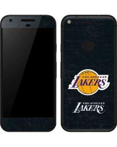 Los Angeles Lakers Black Primary Logo Google Pixel XL Skin