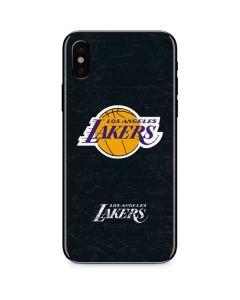 Los Angeles Lakers Black Primary Logo iPhone X Skin