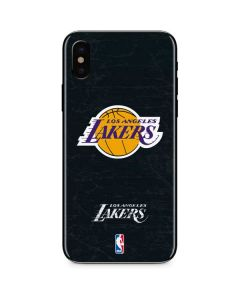 Los Angeles Lakers Black Primary Logo iPhone XS Max Skin