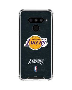 Los Angeles Lakers Black Primary Logo LG V50 ThinQ Clear Case