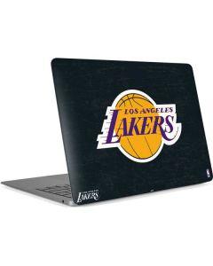 Los Angeles Lakers Black Primary Logo Apple MacBook Air Skin